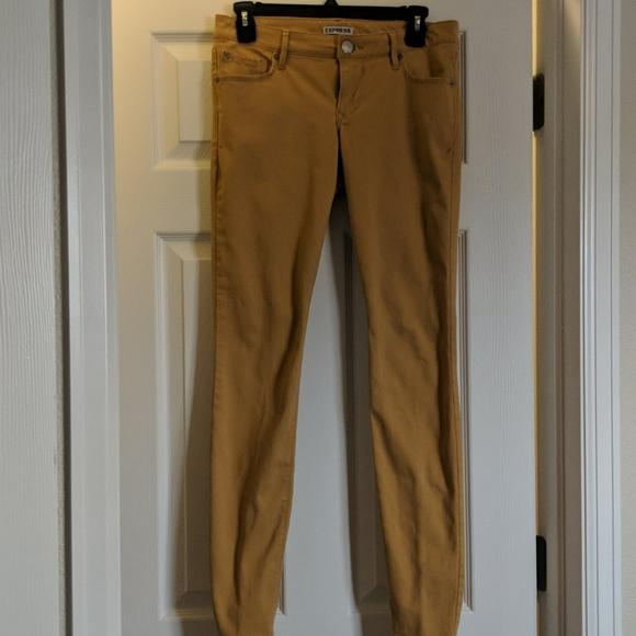 Express Denim - Mustard colored skinny jeans